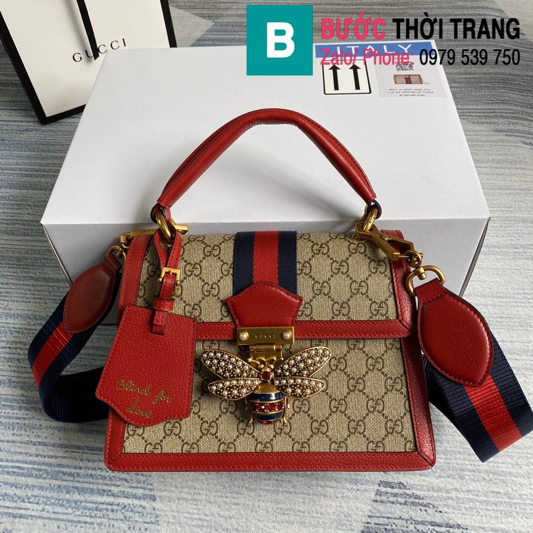 Túi Gucci Queen Mragaret GG Top Handle Satchel (1)