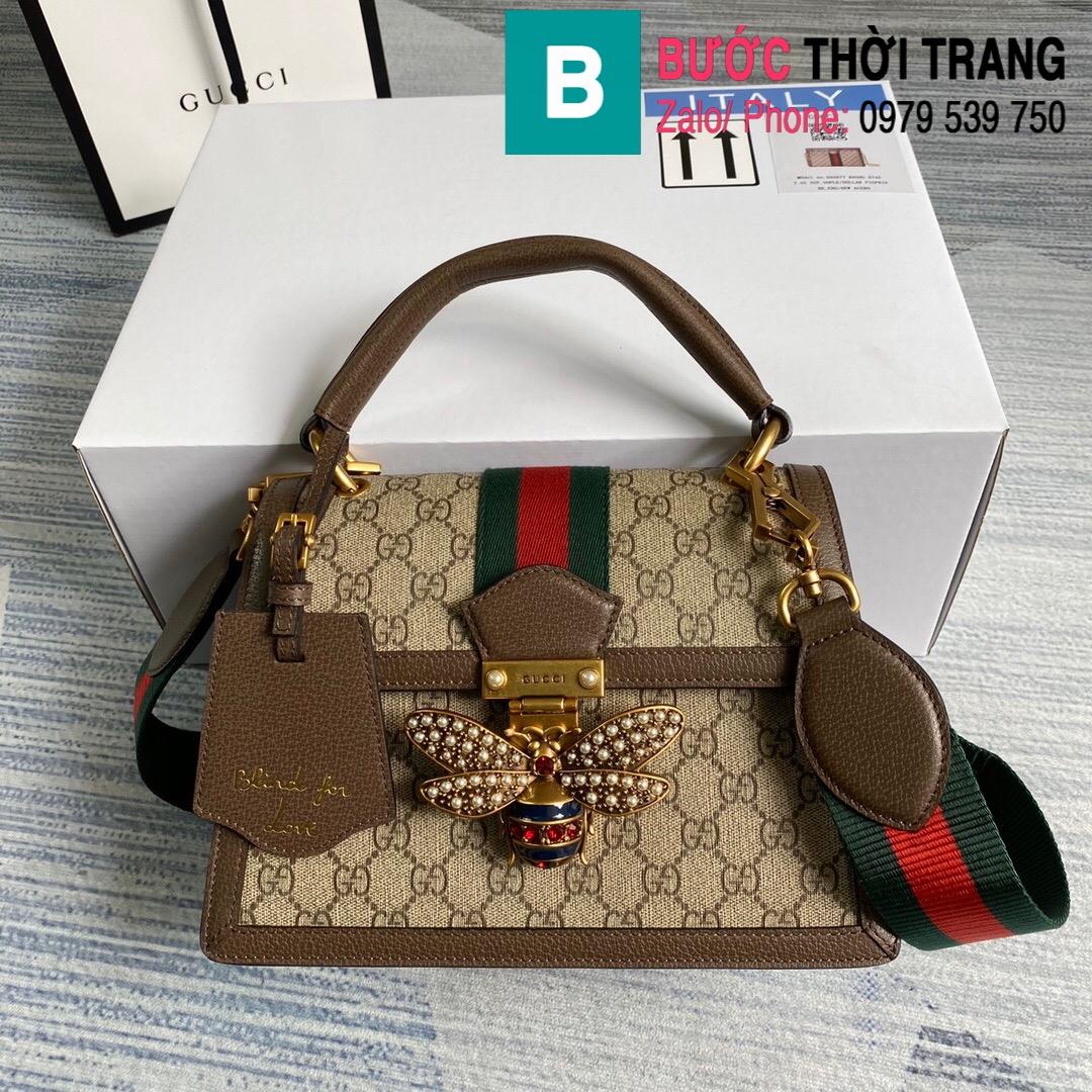 Túi Gucci Queen Mragaret GG Top Handle Satchel (10)