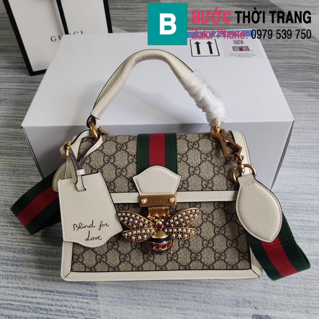 Túi Gucci Queen Mragaret GG Top Handle Satchel (19)