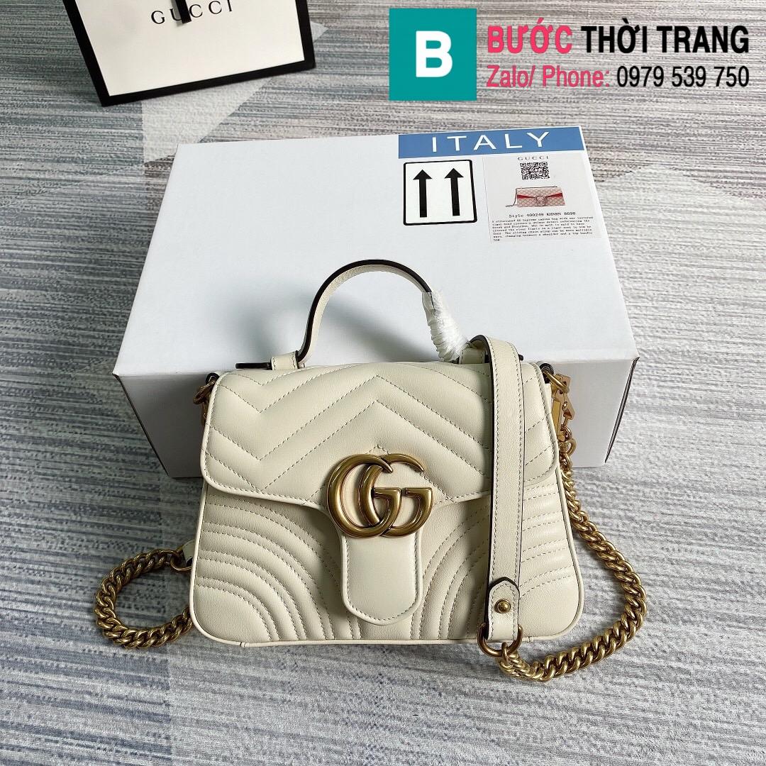 Túi xách Gucci Marmont mini top handle bag (1)