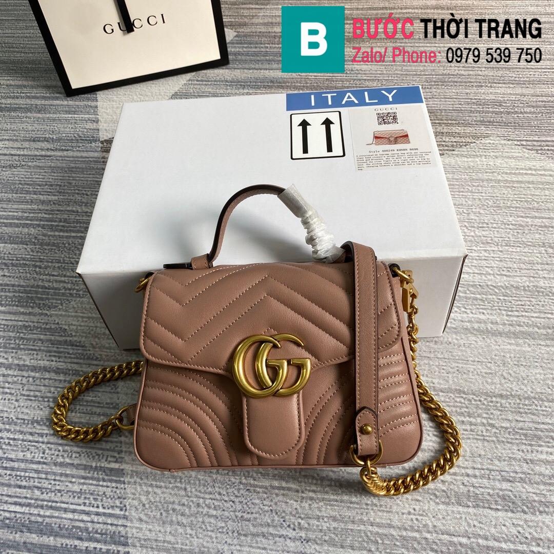 Túi xách Gucci Marmont mini top handle bag (10)