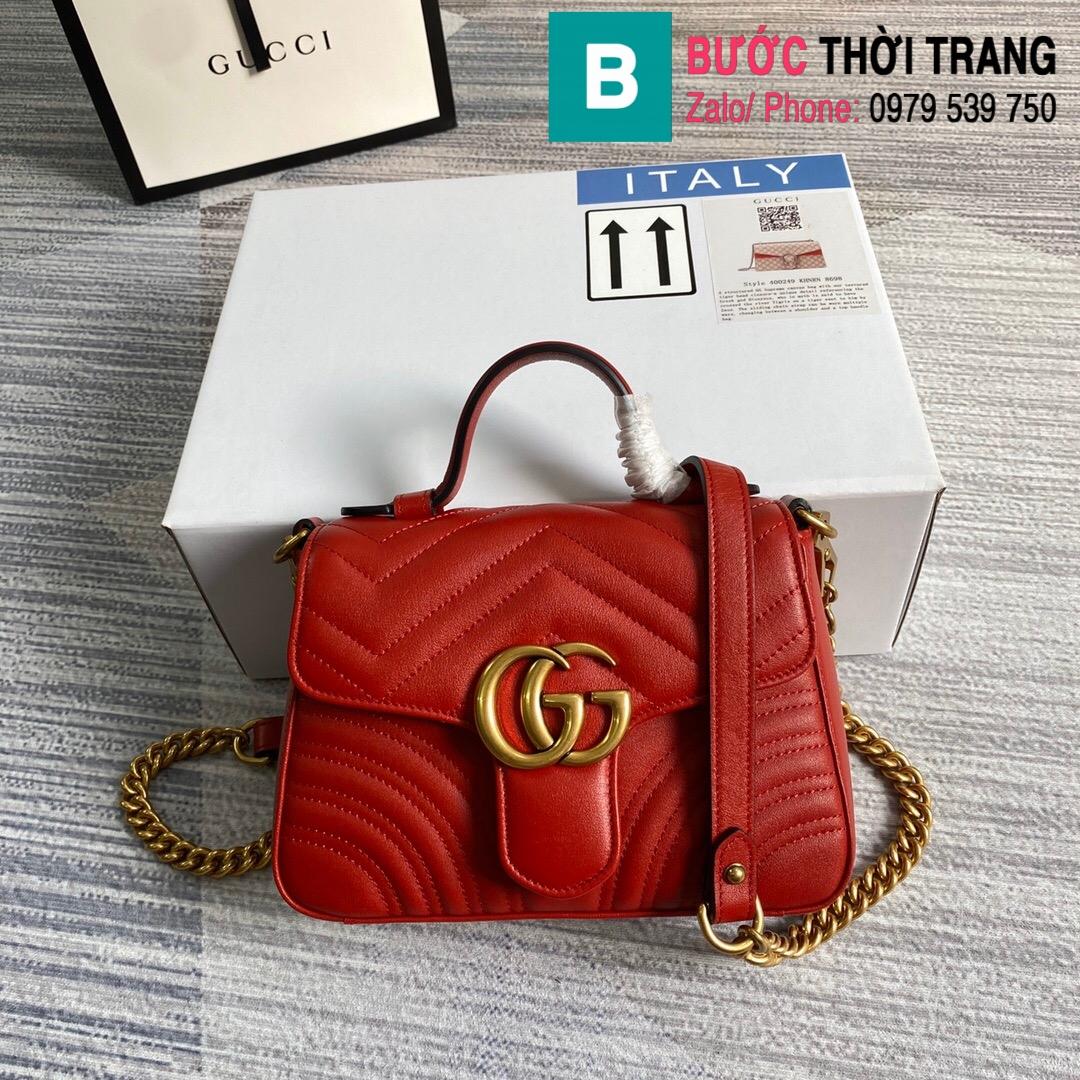 Túi xách Gucci Marmont mini top handle bag (19)