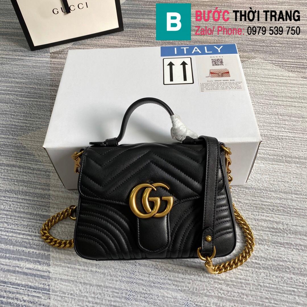 Túi xách Gucci Marmont mini top handle bag (27)