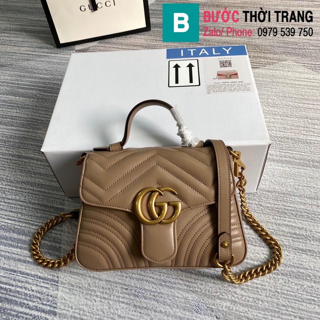 Túi xách Gucci Marmont mini top handle bag (36)
