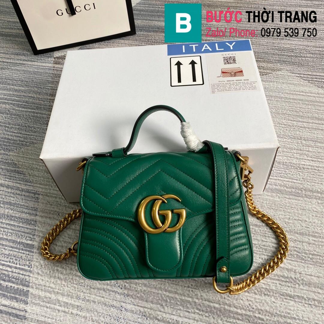 Túi xách Gucci Marmont mini top handle bag (45)