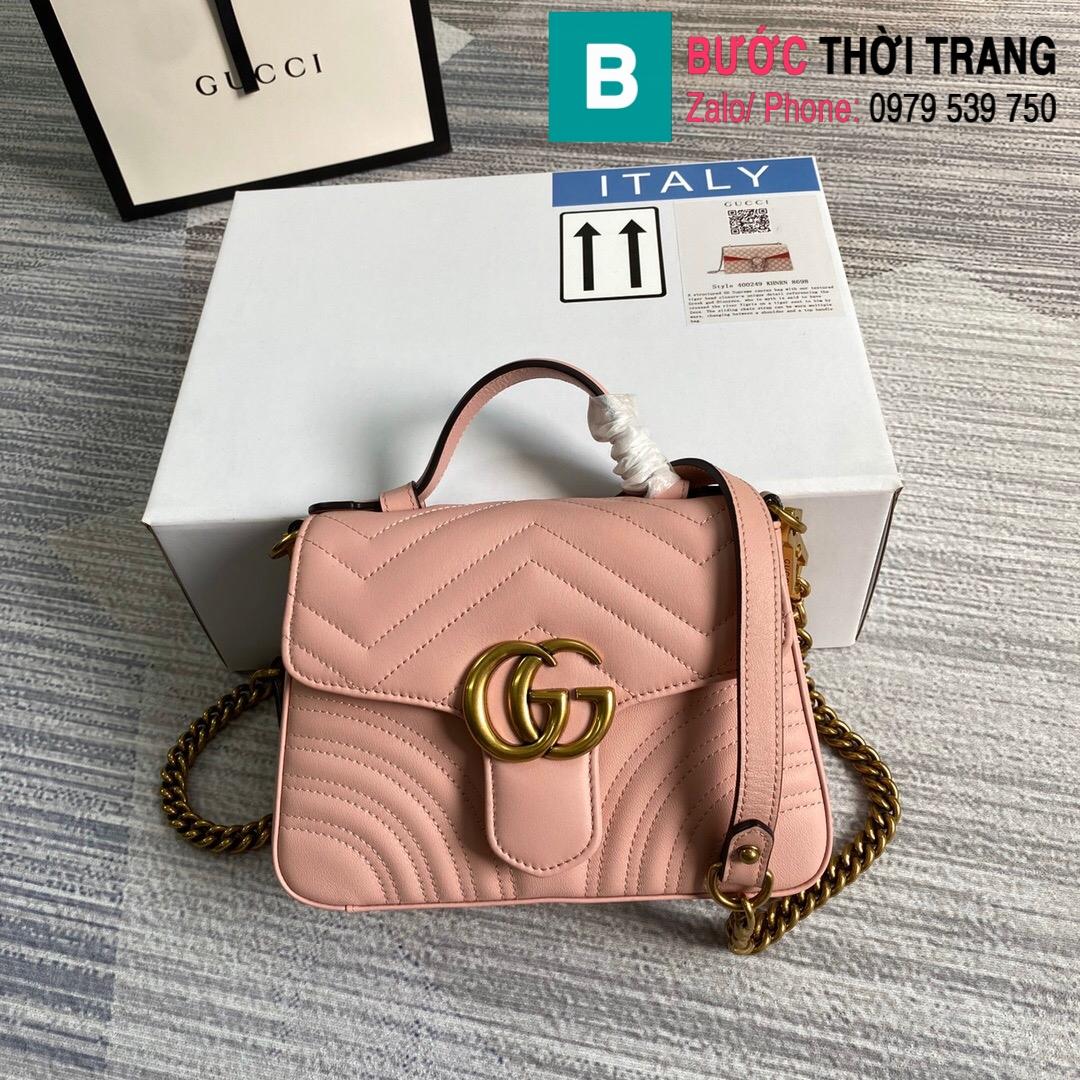 Túi xách Gucci Marmont mini top handle bag (54)