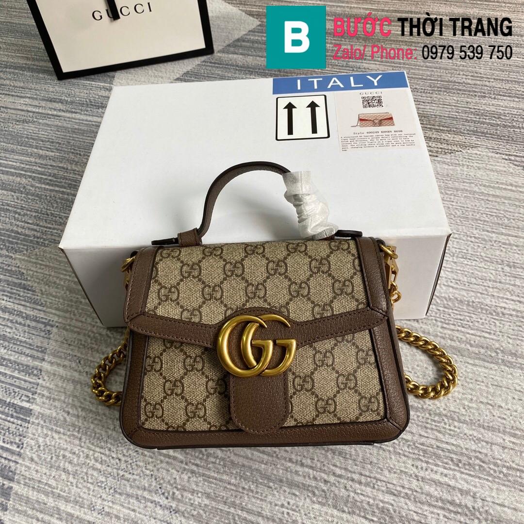 Túi xách Gucci Marmont mini top handle bag (63)