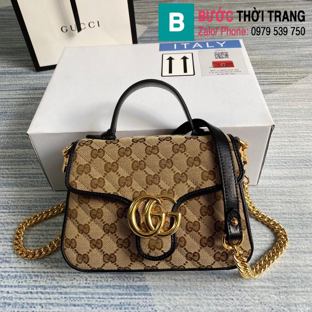 Túi xách Gucci Marmont mini top handle bag (72)