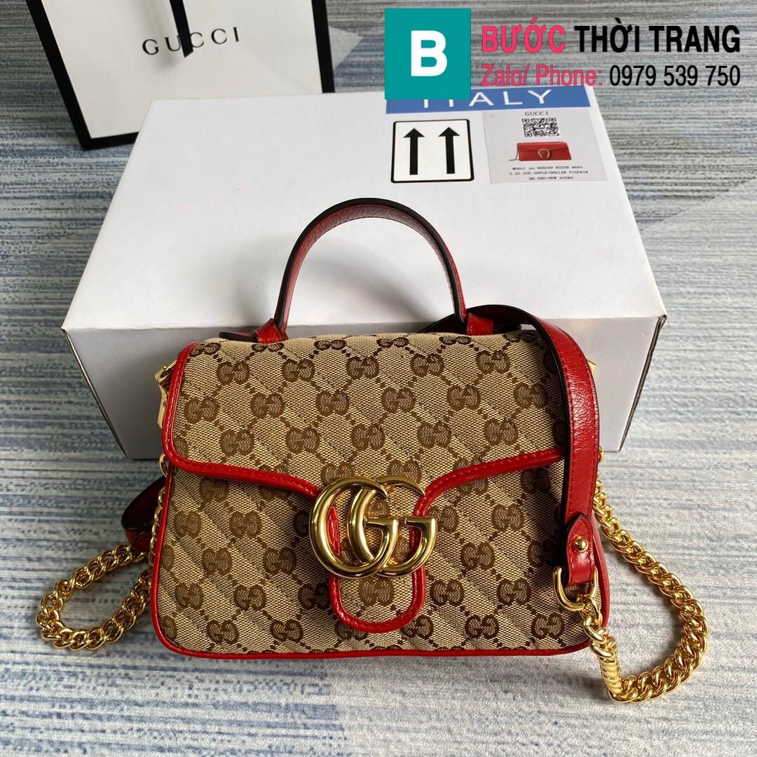 Túi xách Gucci Marmont mini top handle bag (81)