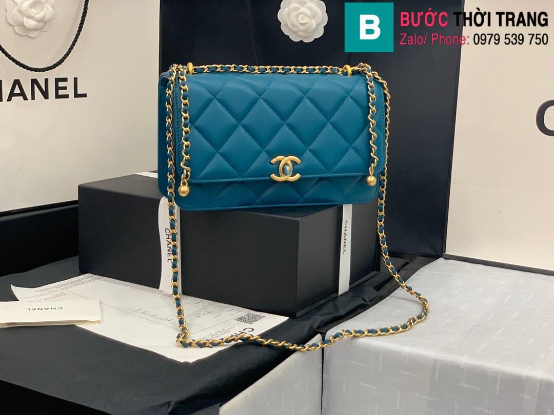 Túi xách Chanel Lambskin Classic Flap Bag (10)