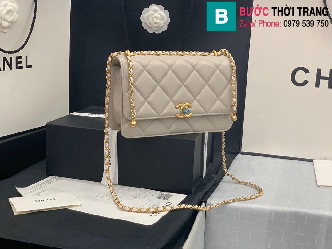Túi xách Chanel Lambskin Classic Flap Bag (28)