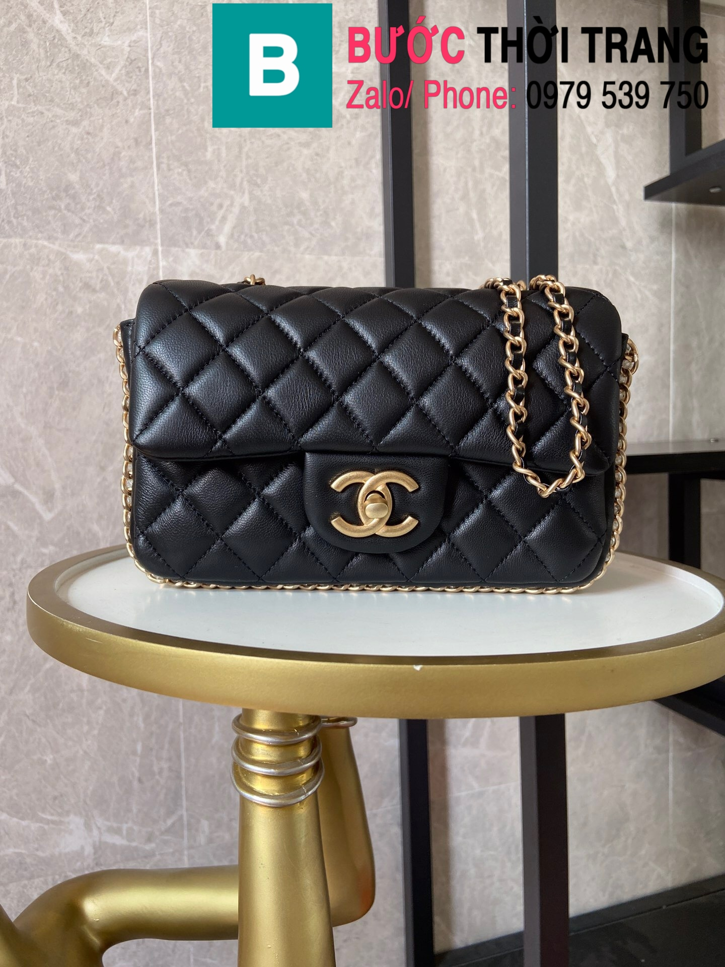 Túi xách Chanel Side Pearl Classic (1)